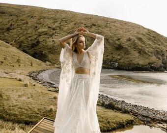 Free Flowing  Wedding Outfit Modern Bridal Gown by Australian L'eto Bridal - Coachella Pieces