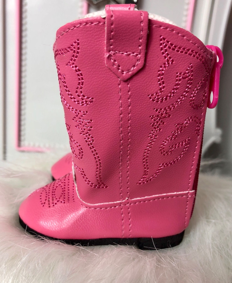 27284b7047167 Pink Cowboy Boots For 18 Inch Dolls such As American Girl, OG and My Life  As Dolls.