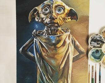 Dobby the House-elf Acrylic Painting