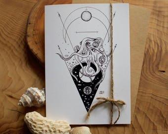 Octopus - Art Card