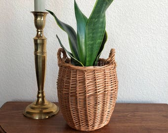 planter basket with handles / storage basket