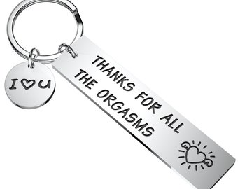 Thanks for all the orgasms funny wooden keychain