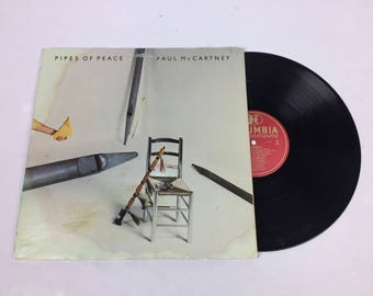 """Paul McCartney """"Pipes of Peace"""" vinyl lp record 1980's with sleeve"""