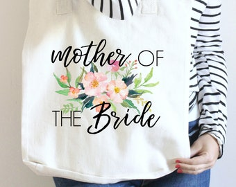 Mother of the Bride Tote, Wedding Tote for Mother of the Bride, Mother of the Bride Canvas Tote, MOB Wedding GIft, MOB Wedding Tote, Tote