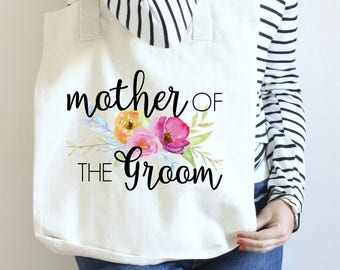Tote Mother of the Groom, Mother of The Groom Gift, Mother of the Groom Tote Bag, Wedding Tote for Mother of the Groom, MOG Wedding Tote