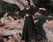 Black Boho Wrap Skirt Bohemian Front Wrap Skirt Long Maxi Skirt Magic Wrap Skirt Bohemian Goddess Skirt Sustainable Tribal Clothing