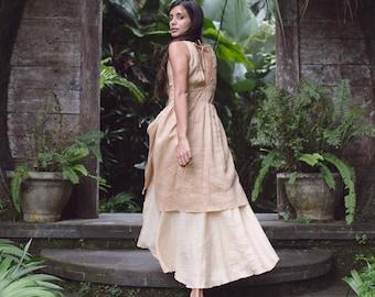 003f916bd61 Organic linen wedding dress • Long bohemian dress • Womens dresses for  gypsy tribal wedding • Eco organic clothing for women • Goddess dress