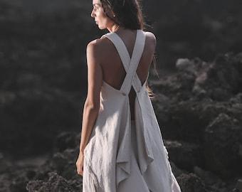f9495f0dc0 White linen top • Boho clothing for women • Crop top Bohemian gypsy top • Organic  linen tunic • Crop linen blouse • Eco