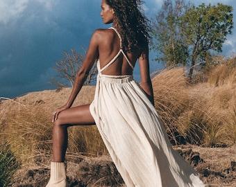 Greek Goddess Dress • Simple Wedding Dress • Boho Dress for Women • Boho Wedding Dress • Grecian Dress • Off White Boho Prom Dress