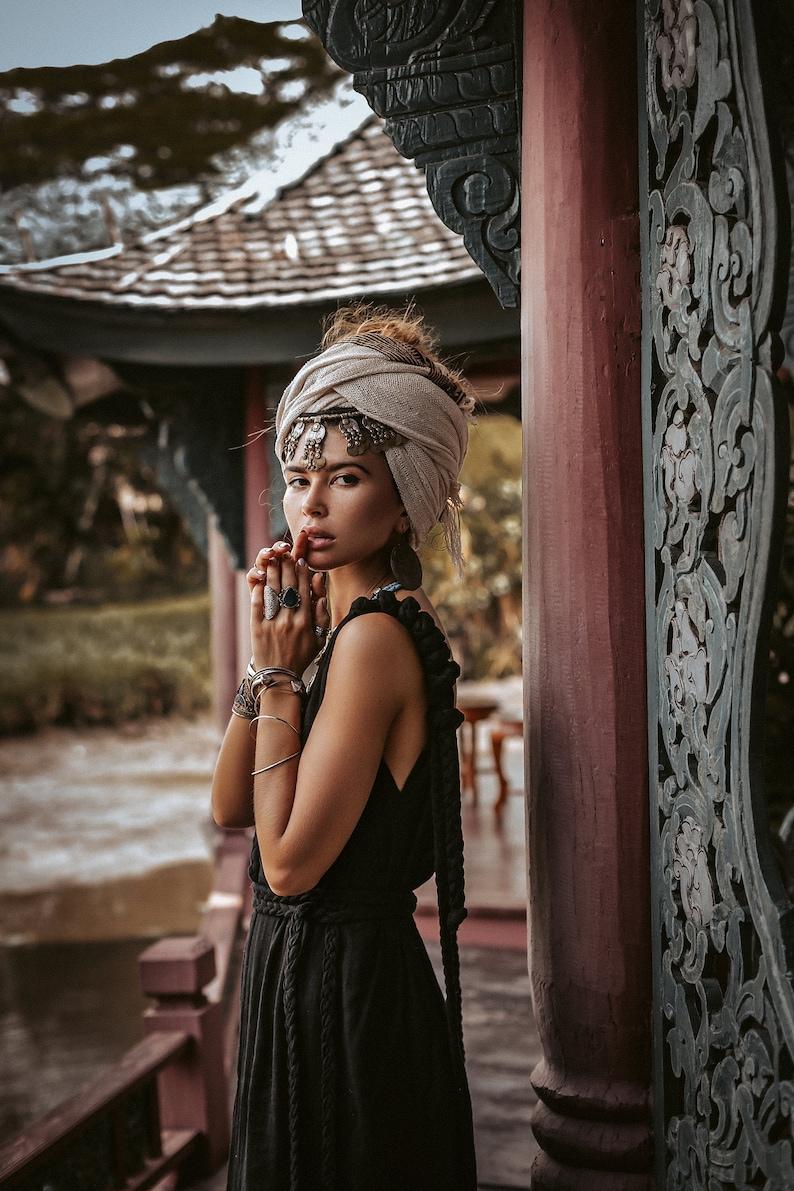 Bestseller Organic Boho Bohemian Dress \u2022 Maxi Dress for Women Braided \u2022 Cotton Goddess Plus Size Dress \u2022 Goddess Black Wedding Dress