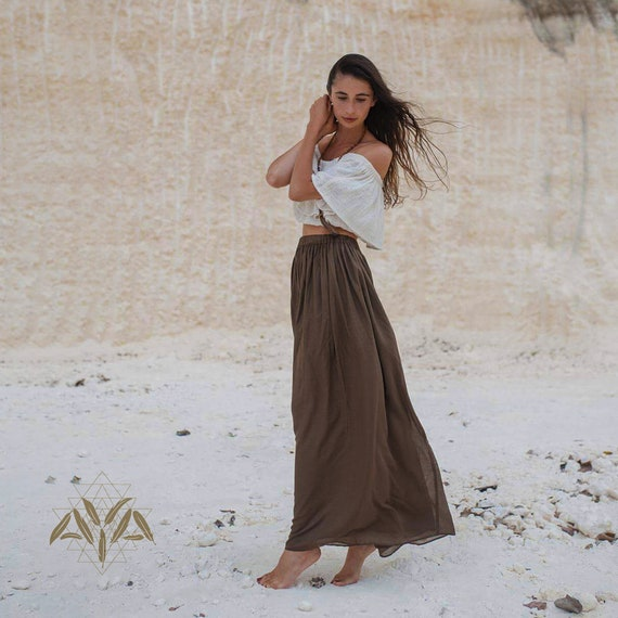 b9998ae8e3f7 Organic cotton skirt Bohemian maxi skirt Boho skirt women