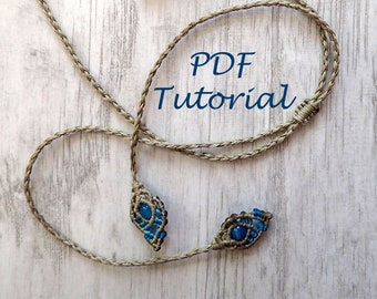 Micro Macrame String and Fancy Ends Tutorial / String for Pendant DIY instructions / Round Kumihimo Braid