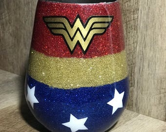 Wonder Women Wine Glass
