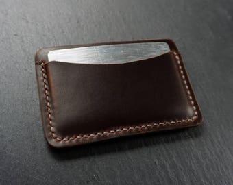 Slim Card Holder, Horween Leather Card Wallet