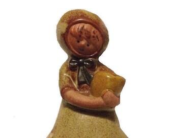 Vintage Girl Ceramic Figurine Mid Century Modern Style of Lisa Larson