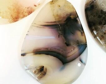 Drilled Gemstone Pendant Montana Agate