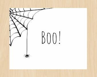 halloween cardwendy addams instant download printable etsy
