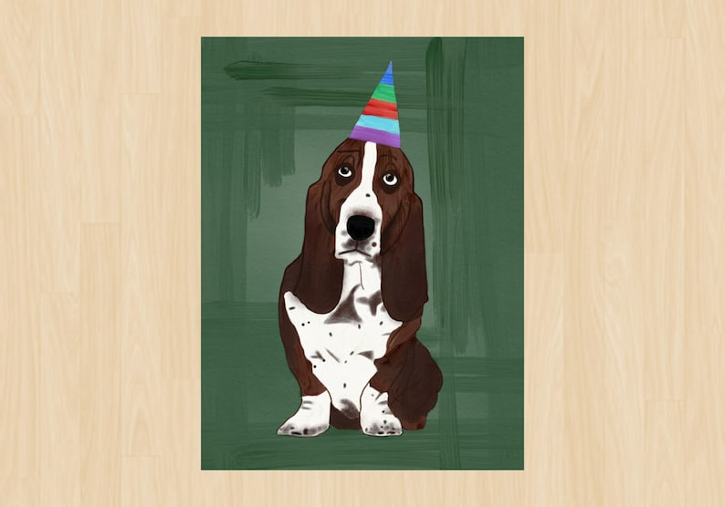 image regarding Dog Birthday Cards Printable Free identified as 4.25\u201dx5.5\u201d Birthday Card, Hound Canine, Instantaneous Down load, PDF, Puppy Spouse, No cost Delivery, Occasion, Vibrant, Printable Playing cards, Electronic Record