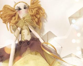 Handmade Cloth Fairy Doll about 31 cm tall by NoosaForestFairies