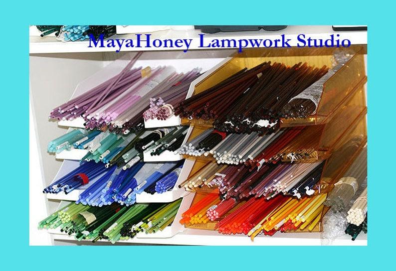 Handmade glass lampwork beads SRA by MayaHoney Gray Yellow round beads set for jewelry making