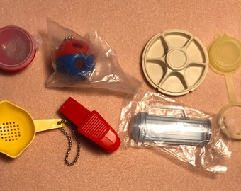 Vintage Tupperware keychain and magnets