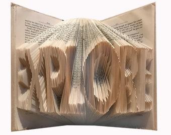 Custom Made Folded Book Art