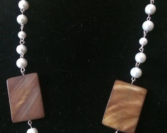 Amber shell & pearls