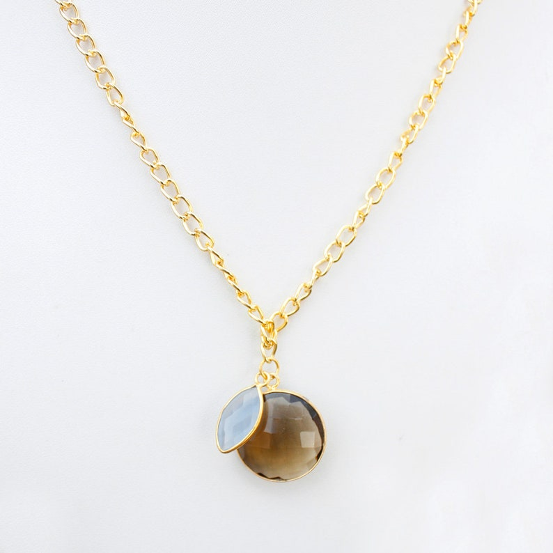 natural smoky pandent gold plated pandent solid brass amaging quality handsome jewelry for gift girlfriend fashion jwelery necklace pandant