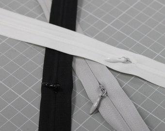Endlos-Reißverschluss Nahtverdeckt 3mm in 3 Farben inkl. 3 Zipper/m Reißverschluss-Meterware