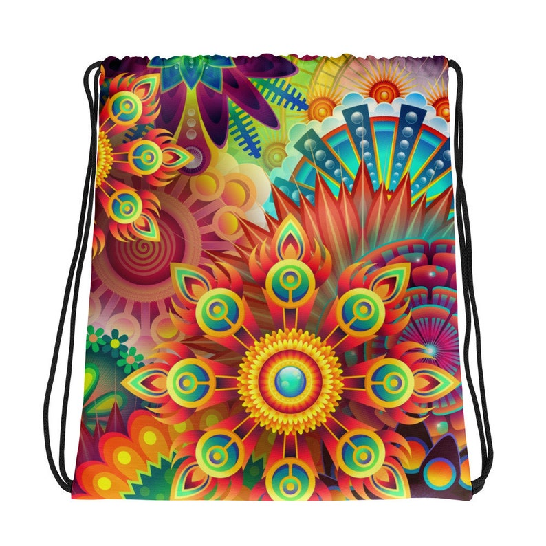 Jamband Psychedelic Patterned Drawstring bag