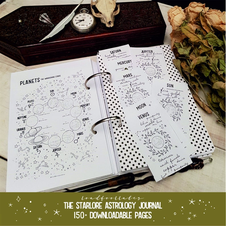 The Starlore Astrology Journal Printable PDF Pages