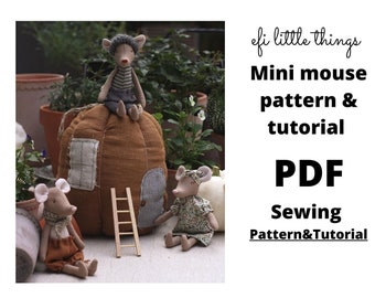 Mini mouse 16 cm soft toy sewing pattern and tutorial