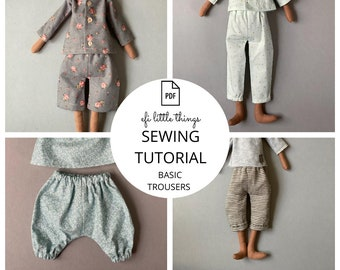 Toys trousers and short sewing PDF tutorial