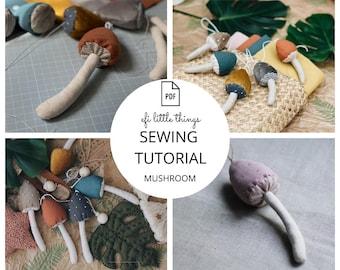 Mushroom TOY MAKING PDF sewing tutorial