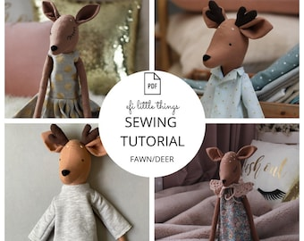 Fawn Deer Toy Doll PDF Sewing  Tutorial with Pattern
