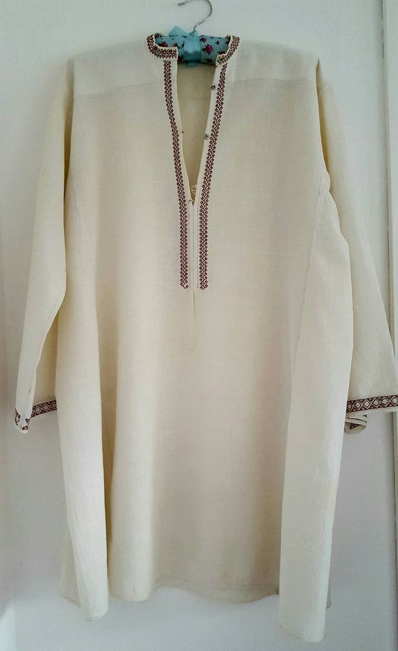 a8aee10ca9 ... lowest price 02fe9 b94bf Romanian traditional nightshirt vintageantique  men blouse ...