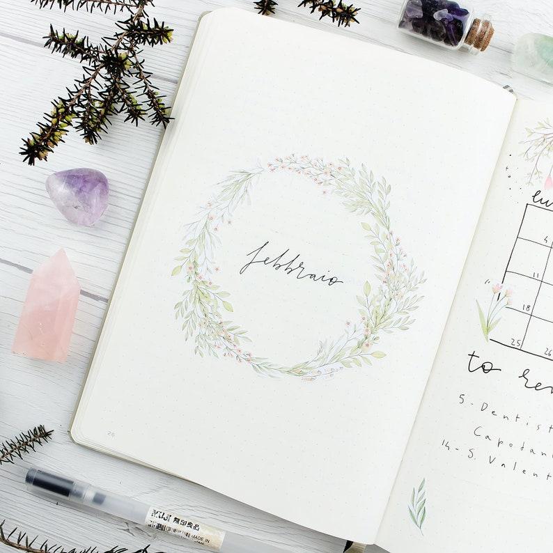Romantic Spring stickers kit for bullet journal or planner