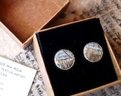 Arty Landscape Earrings. Bespoke, Unique Minimalist Ear Studs. Beautiful Anniversary Gift. Wedding Jewellery. Unique Gifts For Mum. Gifts .