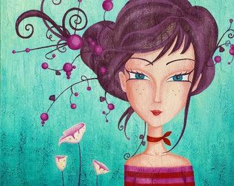 "Fairy girl, original painting, 24 ""X 24"""