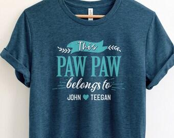 db514262093 Personalized Pawpaw Shirt Grandpa Shirt Pawpaw Gift For Pawpaw T Shirt  Fathers Day Shirt Pawpaw Tshirt Pawpaw Birthday Grandfather Shirt