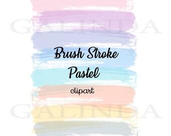 Brush Stroke clipart, Pastel Brush Strokes, Watercolor Pastel Brush Strokes, Brush Strokes, Watercolor Brush Stroke, Pastel Clipart, Strokes