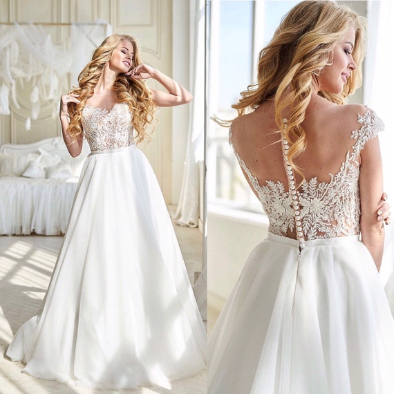 Classic Wedding Dress Lace Corset Wedding Gown Tulle Skirt Dress Ivory Dress Bridal Gown 2020 Quality Wedding Dress