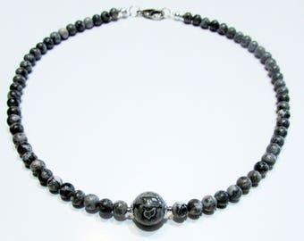 Jasper Grey Necklace