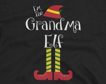 I m The Grandma Elf Christmas Matching Family Group T-Shirt 3b98c857b