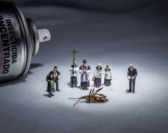 DIGITAL DOWNLOAD,miniature people,funny photography,funeral,bug,insect,digital art,photography,instant print,printable art,little people,art