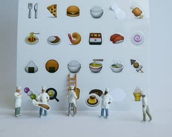 DIGITAL DOWNMLOAD Art photography,miniature people,food,decoration home,miniature food,little people,funny,emojis,instant prints,kitchen