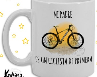 Father's Day Cup, Koikima Cup Store, ceramic mug, personalized mug, coffee mug, cycling cup, dad mug, original mug, bike mug