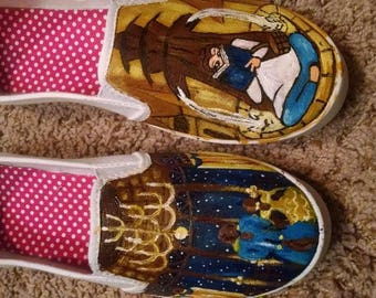 Hand Painted Beauty and the Beast