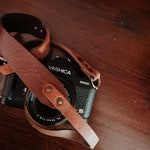 Leather camera strap for reflex mirrorless and instax - shoulder neck strap handmade colored color black belt camerastrap cords colors
