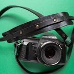 Leather camera strap for reflex mirrorless and instax - shoulder neck strap handmade colored color black belt camerastrap cords colors